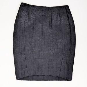 Escada High Low Hem Stretch Pencil Skirt Black 8